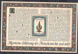 UN Vienna 1988 - The 40th Anniversary Of The Human Rights Declaration Of The UN - UNO