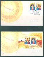 AUSTRALIA  - FDC - 2.11.2009 - CHRISTMAS - Yv 3183-3184 BLOC 122  - Lot 18533 - Premiers Jours (FDC)