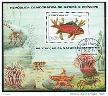 S. Tomé E Principe 1979 - Fish - Used Block - Sao Tomé Y Príncipe