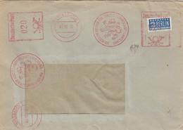 BUND. LETTRE. 03 10 50. EMA 0,20 WIESBADEN. LION. NOTOPFER 2 BERLIN - Lettres & Documents