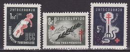 Yugoslavia 1948 Fight Against Tuberculosis, MNH (**) Michel 536-538, - 1945-1992 République Fédérative Populaire De Yougoslavie