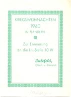 Militair Oorlog - Kriegsweihnachten 1940 In Flandern - Erinnerung Ln. Stelle 10/IV - Oberl. Bielefeld - Maldegem - Documents