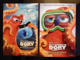 Alla Ricerca Di Dory Movie Film Lot De 2 Cartes Postales - Cinema