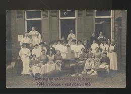 Verviers  Comité Pour Les Victimes De La Guerre 1914 La Soupe -Verviers 1915  Carte Coupée -voir Verso - Verviers
