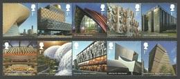 GB 2017 LANDMARK BUILDINGS ARCHITECTURE EDEN PROJECT SET MNH - 1952-.... (Elizabeth II)