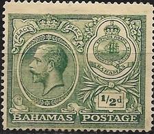 BAHAMAS 1920 Peace Celebration - 1/2 D - Green MNG - Bahamas (...-1973)
