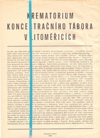 Document Concentratiekamp Tabora - Krematrorium Koncentracniho Tabora - V Litomericich - 1945 - Documents