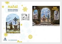 Andorra / Andorre - Postfris / MNH - FDC Sheet Kerstmis 2018 - Spaans-Andorra