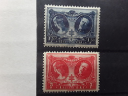 BELGIQUE 1926,Yvert No 243 & 244, Tuberculeux De La Guerre,Reine Elisabeth Roi Albert 1 Er  Neufs ** MNH TB Cote 15 E - Belgique
