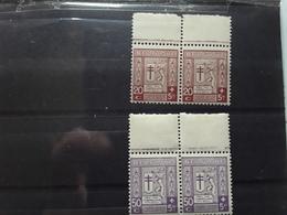 BELGIQUE 1926,PAIRE Yvert No 241 PAIRE No 242, Tuberculeux De La Guerre,  Neufs ** MNH TTB LUXE - Belgique