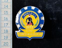 Medaille Moto Club  Concentration Trial Amberieu 1971 - Motos