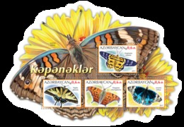 Azerbaijan. 2017 Butterflies. Block - Azerbaïjan