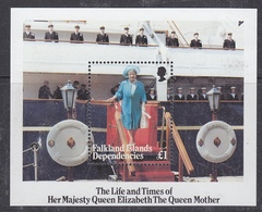 Falkland Islands 1985  Life And Times Of The Queen Mother M/s  ** Mnh (41475) - Falklandeilanden