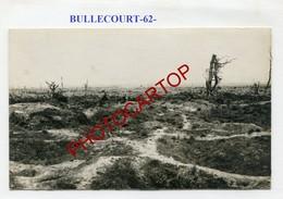 BULLECOURT-Positions-Tranchees-CARTE PHOTO Allemande-Guerre 14-18-1WK-France-62-Militaria- - France