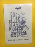 9173 - Rare Club De L'aviron Vevey  Suisse  Illustration Gea Augsbourg - Etiquettes