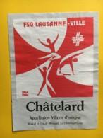 9176 -  Gymnastique Lausanne -Ville 1944 -1994 Suisse 2 étiquettes - Etiquettes
