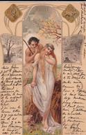 CPA  Représentation AVRIL - Signe Astrologique Taureau - Fantaisie Femme - 1901 - Astrologie