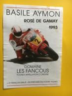 9180 - Moto Basile Aymon Rosé De Gamay 1993 Domaine Les Fancous     Suisse - Etiquettes