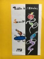 9187 - Théâtre De L'Echalas Savuit 1998 & 1999 Suisse 2 étiquettes - Etiquettes
