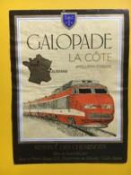 9193 - Locomotive Ligne Lausanne-Paris Réserve Des Cheminots Suisse - Trains