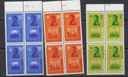 Falkland Islands 1962 Radio Communications 3v  Bl Of 4 ** Mnh (41475A) - Falklandeilanden