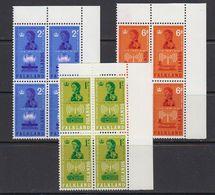 Falkland Islands 1962 Radio Communications 3v  Bl Of 4  (corners) ** Mnh (41475B) - Falklandeilanden