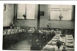 CPA - Cartes Postales BELGIQUE - Beaumont- Ecole Moyenne Pour Jeunes Filles - Réfectoire-1921  S3968 - Beaumont