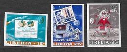 #B6A# LIBERIA MICHEL 725/727B MNH**, SPACE. KENNEDY. - Liberia