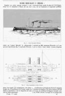 """LE NAVIRE BRISE-GLACE   """" L'ERMACK """"  1899 - Bateaux"""