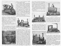 LES CHEMINS De FER MINUSCULES   1899 - Chemin De Fer