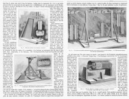 AIMANTS Et TOURBILLONS Experiences De M. WEYHER    1899 - Technical