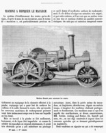 MACHINE ( HOSACK ) à REPIQUER LE MACADAN    1900 - Technical