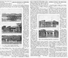 """LIGNE De CHEMINS De FER De L'OUEST """" COURCELLLES Au CHAMPS-DE-MARS """" Traversée De La SEINE    1900 - Chemin De Fer"""