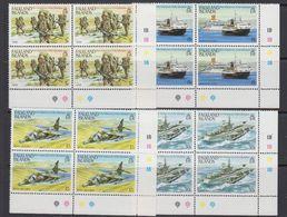 Falkland Islands 1983 First Anniversary Liberation 4v Bl Of 4 (corners) ** Mnh (41475) - Falklandeilanden