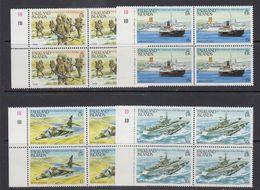 Falkland Islands 1983 First Anniversary Liberation 4v Bl Of 4 ** Mnh (41475E) - Falklandeilanden