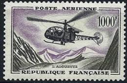 "FR Aerien YT 37 (PA) "" Prototype, Alouette "" 1957-59 Neuf* - 1927-1959 Mint/hinged"
