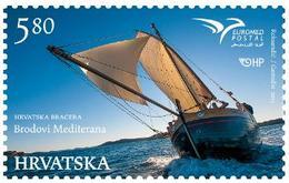 2015 EUROMED, Boats Of The Mediterranean, Croatia, Hrvatska, MNH - Croatie