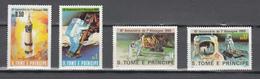 Sao Tome E Principe 1980,4v In Set ,aerospace,ruimtevaart,luft Und Raumfahrt,de L'aérospatial,MNH/Postfris(A3608) - Africa