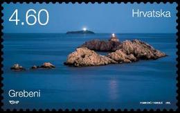 2015 Lighthouses, Grebeni, Croatia, Hrvatska, MNH - Croatie