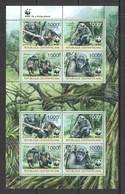 W756 2012 CENTRAL AFRICA CENTRAFRICAINE WWF FAUNA ANIMALS PRIMATES MONKEYS TROGLODYTES MICHEL 20 EURO 1KB MNH - W.W.F.