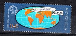 Venezuela  -  1974. UPU. Carta Geografica Con I Continenti. Terrestri. Map With Terrestrial Continents. MNH - Geografia