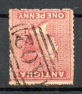 AMERIQUE CENTRALE - ANTIGUA - (Colonie Britannique) - 1863-67 - N° 2 - 1 P. Rose-lilas - (Victoria) - Antigua Et Barbuda (1981-...)