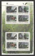 W760 2009 UNION DES COMORES WWF FAUNA WILD ANIMALS BATS !!! MICHEL 14 EURO !!! 1KB MNH - W.W.F.