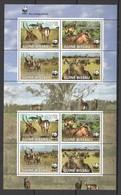 W761 2008 GUINE-BISSAU FAUNA WILD ANIMALS WWF KOBUS DEFASSA !!! MICHEL 15 EURO !!! 1KB MNH - W.W.F.
