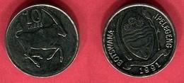 10 THEBE  1991 ( KM  5) TTB+ 2 - Botswana
