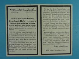 Leonhard-Hub. Drouven  épx Hackens Neutral-Moresnet 1872 La Calamine 1950 - Images Religieuses