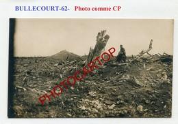 BULLECOURT-Positions-PHOTO Allemande Comme CP-Guerre 14-18-1WK-France-62-Militaria- - France