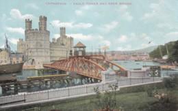 AS11 Carnarvon, Eagle Tower And Aber Bridge - 1905 Bangor Duplex Postmark - Caernarvonshire