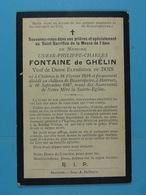 Usmar Fontaine De Ghélin Vf Elphégine Du Bois Chièvres 1828 Château De Beaurepaire à Horrues 1907 - Images Religieuses