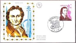 Compositor NICOLO PAGANINI - Composer. SPD/FDC Monaco 1982 - Música